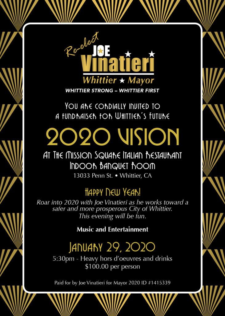 Joe Vinatieri 2020 Vision INVITE