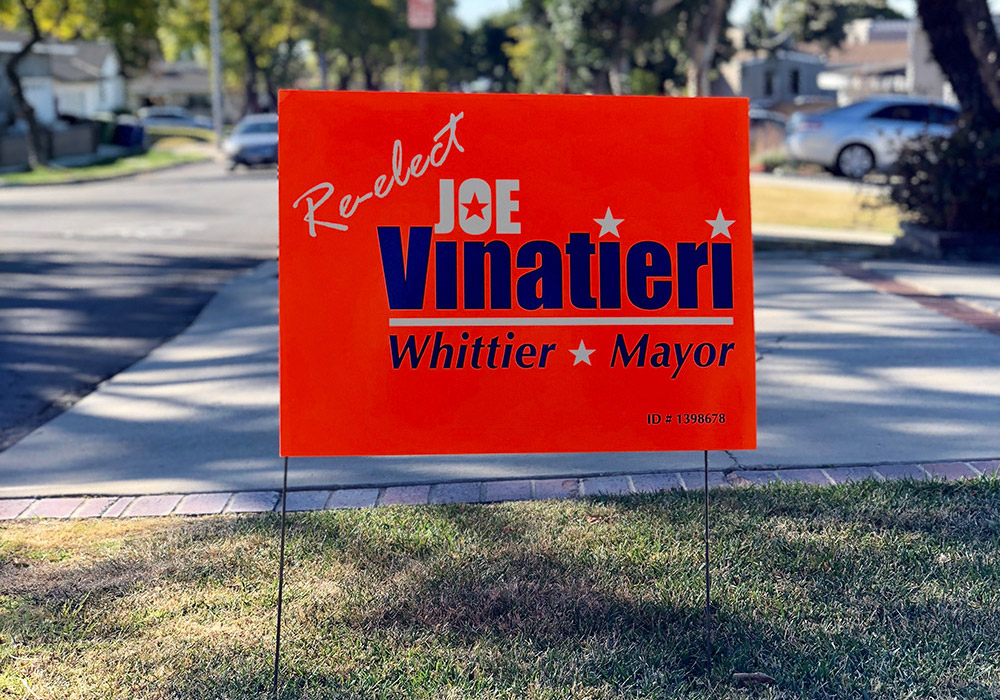 campaign yard sign